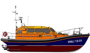 A drawing of the Shannon class of Lifeboat
